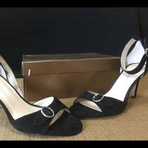 Audrey Brooke Ankle strap Suede Heels Size 9
